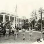 Library dedication ceremony - Memorial Day, 1969